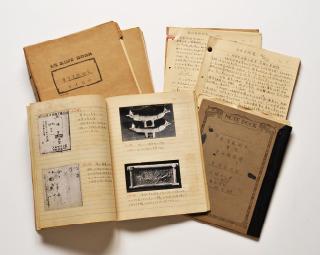小林正樹作成「會津八一講義ノート」(世田谷文学館蔵、八一の授業を筆記)