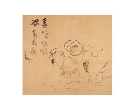 仙厓義梵《蜆子和尚図》