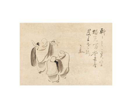 仙厓義梵《南泉斬猫図》