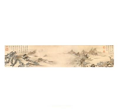 五十嵐浚明筆《山水図巻》(早稲田大学會津八一記念博物館蔵)