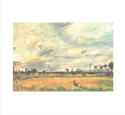 佐藤哲三 《風景》(1953年頃、北方文化博物館蔵)